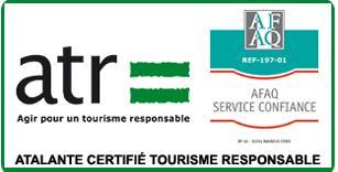 Atalante Certifié Tourisme Responsable