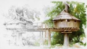 Dessin de cabanes - ABANE