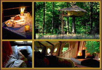 dormir dans les arbres un coffret cadeau du r seau cabanes de france. Black Bedroom Furniture Sets. Home Design Ideas