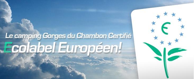 Les gorges du chambon certifié Ecolabel Européen