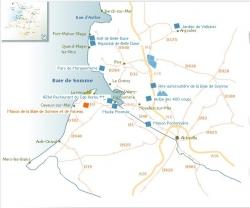 Carte baie de somme - source www.baiedesomme.fr