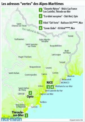 l'exemple de la carte de l'écotourisme en PACA