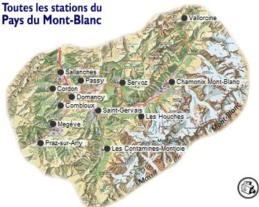 Carte - Source Pays du Mont-Blanc