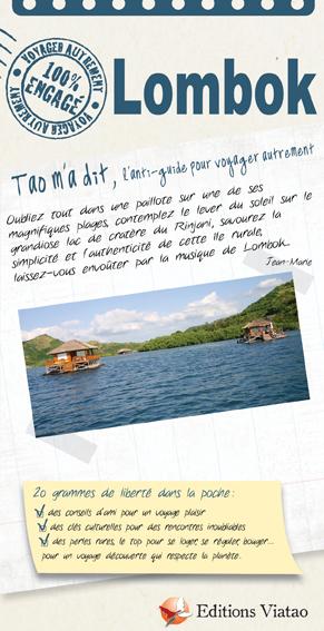 Tao m'a dit LOMBOK - la collection de guide pour voyager autrement