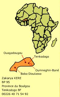 Carte du Burkina Faso - Source Tempelga