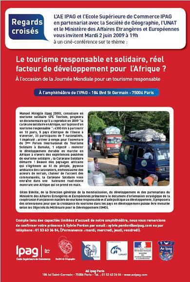 Ciné Conférence - Tourisme responsable et solidaire en Afrique