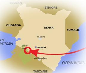 Carte Réserve Masai Mara - Terra Natura