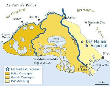 carte des Marais du Vigueirat en Camargue