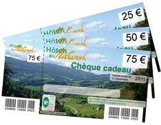 Chèque cadeau Hôtels au Naturel -  Idée de week end ou séjour nature