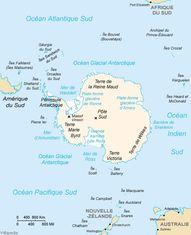 carte continent antarctique