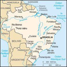 carte et routard au brésil