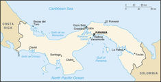Carte du Panama