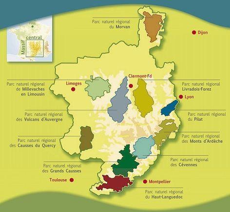 Les 10 Parcs naturels du Massif central