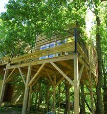 Le Mas Escombelle - Cabanes dans les arbres - Gard et Ardèche