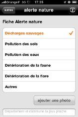 orange Alerte nature