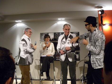 Jean-François Rial à Gauche, Valérie Expert, Marco Berrebi & JR