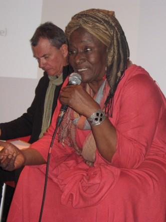 Aminata Traoré lors de la journée Sahel. ATES 2011