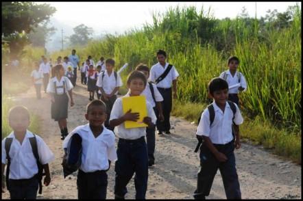 En route vers l'école...