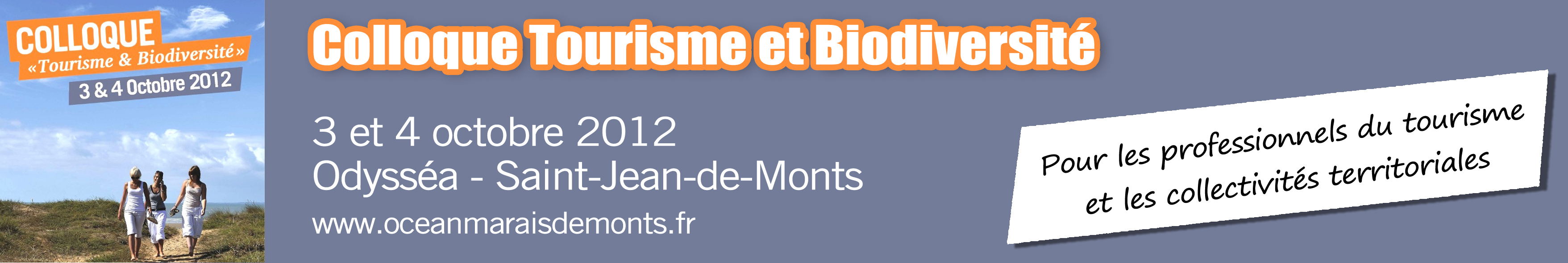 Colloque tourisme et biodiversit saint jean de monts - Office de tourisme de saint jean de monts ...