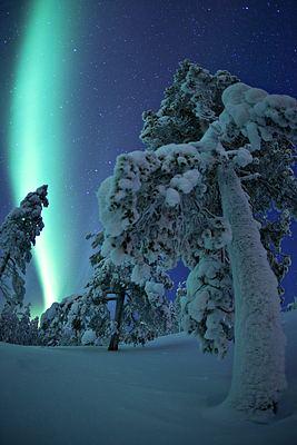 Aurores boréales en Finlande