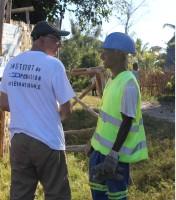 Volontaire de l'I.C.I. en action