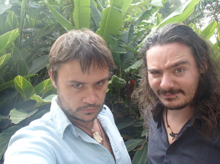 Mikaël et Kalagan au zoo de Guatémala