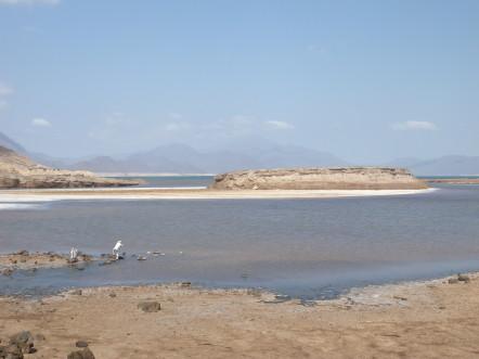 Le lac Assal et sa banquise de sel. @G.Clastres