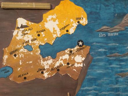 Djibouti carte murale @G.Clastres