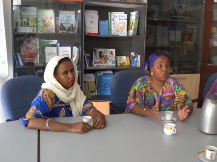 Mouna et Fatma à l'ADEPF @G.Clastres
