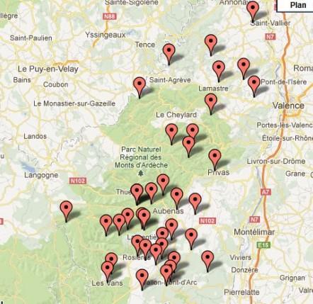 Cliquez sur la carte pour trouver les acteurs de la filière écotourisme
