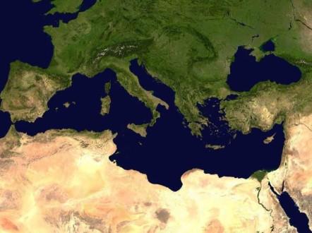 Carte du pourtour méditerranéen