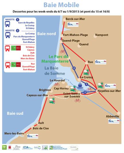 La zone de l'opération 2013 d'écomobilité s'élargit au Nord et au Sud de la baie