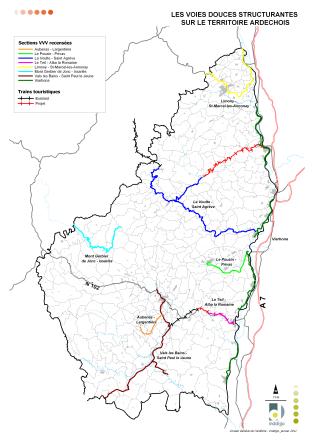 Etat actuel et perspectives du réseau des voies douces en Ardèche