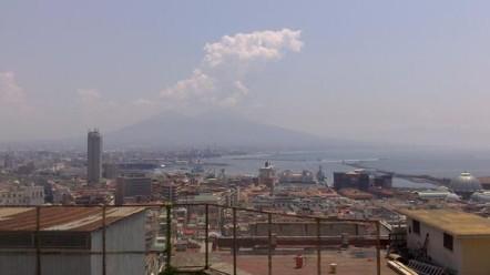 Vue de l'Université sur la baie de Naples