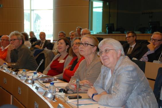 Participants lors de la session au Parlement Européen