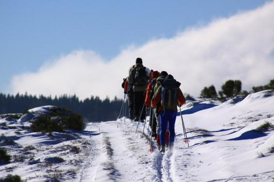 Randonnée ski nordique en Ardèche © La Burle