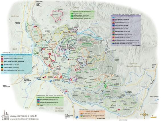 Carte Vélo Provence