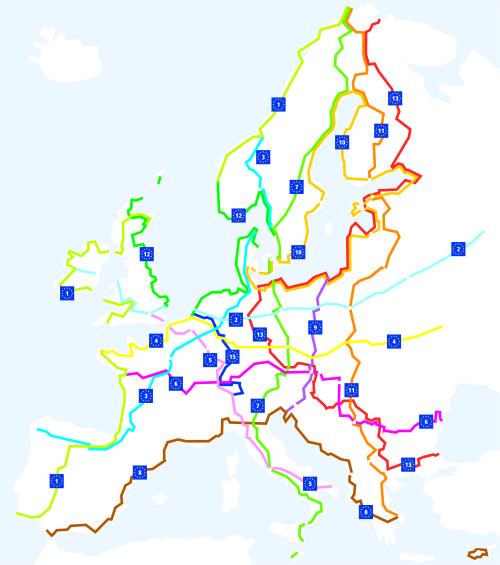 Carte Eurovelo