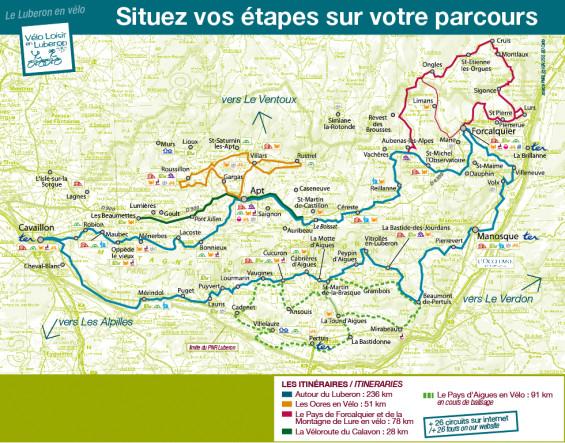 itinéraires et adhérents Luberon
