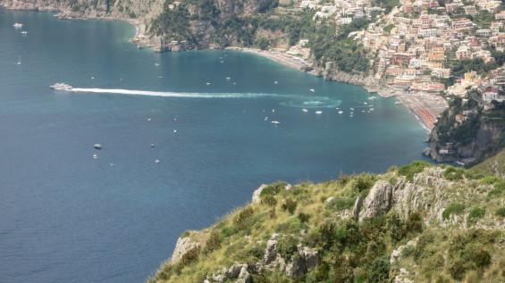 Vue des falaises de Positano