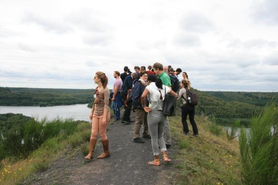 Participants de l'Université d'été au parc Haute Campigne