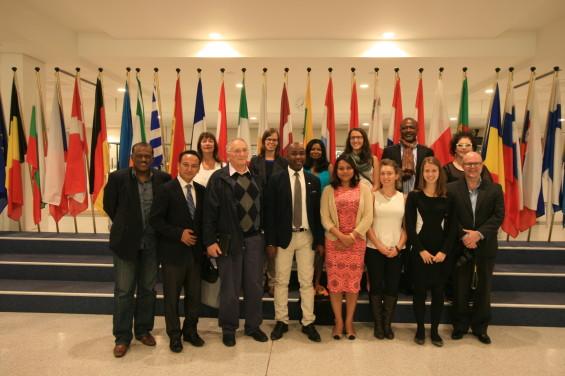 Quelques participants pour la visite du parlement européen