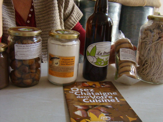 Produits issus de la châtaigne © Sabine Grandadam