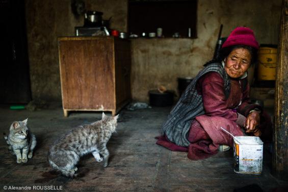 Chez l'habitant dans le petit village de Brog Yogma, perdu à 4.000 m d'altitude.