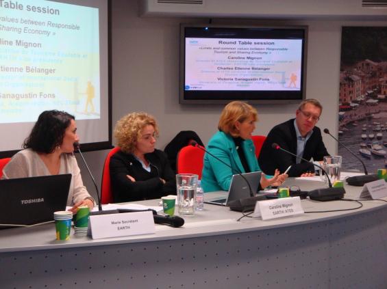 Table ronde avec Caroline Mignon (ATES), Victoria Sanagustin (NECSTouR) et Charles Bélanger (OITS), modérée par Marie Secrétant (EARTH)