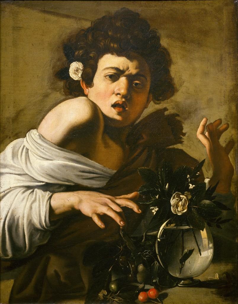 Garçon mordu par un lézard, Caravage. 1594