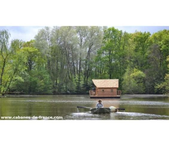 une cabane au milieu de l'eau, ça laisse réveur