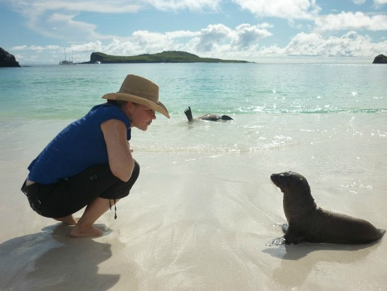 Jolie rencontre aux Galapagos