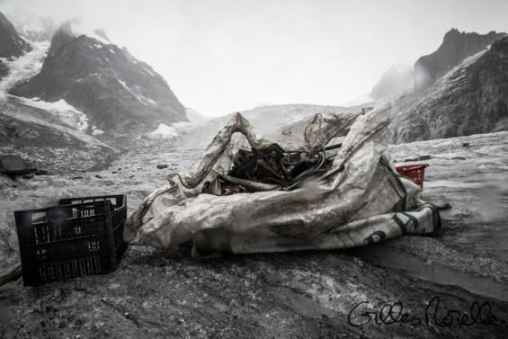 dechets ramasses en montagne