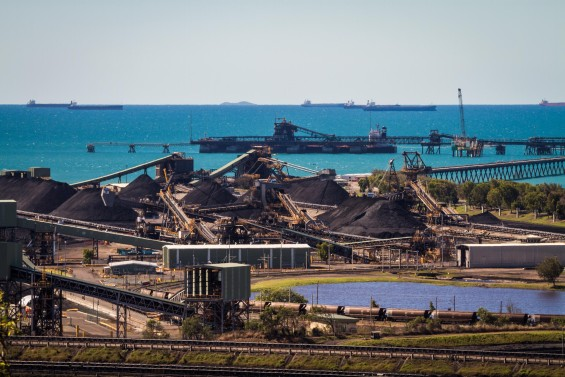 Hay point is about 40km south of the city of Mackay and has two Coal Terminals, Dalrymple Bay Coal Terminal (DBCT) and Hay Point Coal Terminal (HPCT). It forms one of the largest coal export terminals in Australia and services coal mined from the Bowen Basin in central Queensland transported via rail. Hay Point is a striking example of the industrialisation of the Queensland coast for coal export.